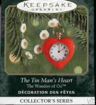 TIN MAN'S HEART Wizard of Oz Miniature Hallmark Ornament 2000