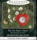 TIN MAN'S HEART Wizard of Oz Miniature Hallmark Ornament 2000