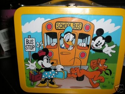 1960s Mickey's School Days Tin Lunchbox Disney Lunch Box