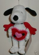 VALENTINE SNOOPY New Plush Dog~Peanuts~Hallmark