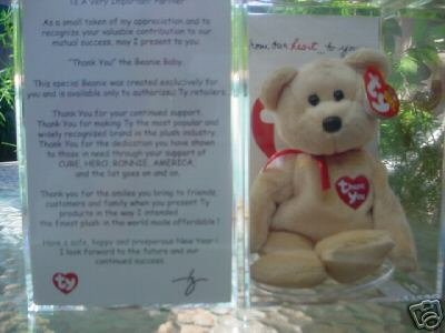 Ty THANK YOU Beanie Baby Bear with CARD 2003~Ultra Rare