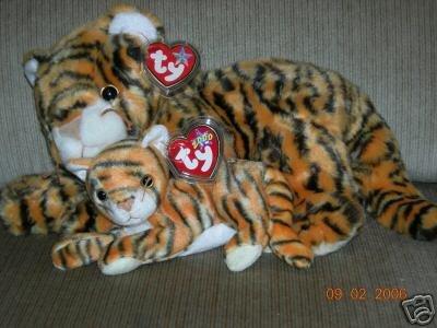 Ty INDIA Beanie Buddy   Beanie Baby Tigers 6505f724cea