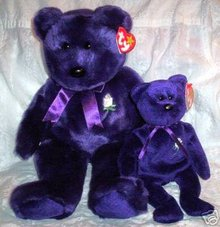Ty PRINCESS Di Beanie Baby & Buddy~ Plush set of 2 Bears- New!