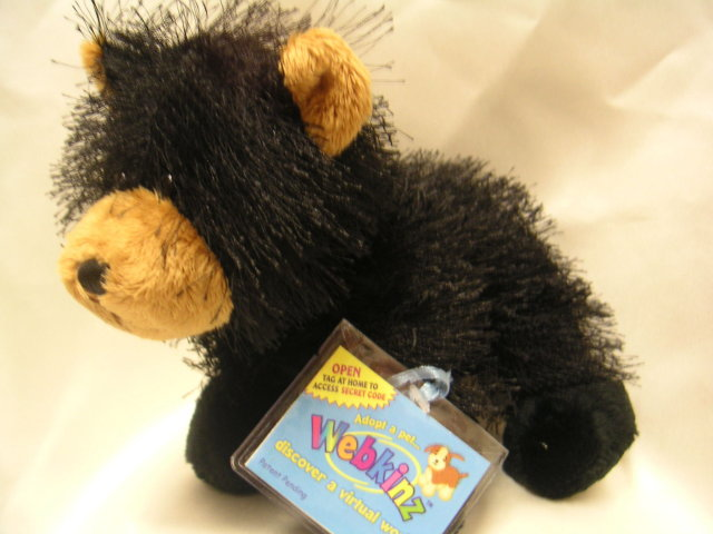 WEBKINZ~BLACK BEAR~Sealed Tag~Secret Code