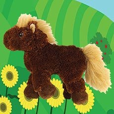 WEBKINZ~Brown HORSE~Pony~RETIRED Large Size Plush~Sealed Tag w/ Code