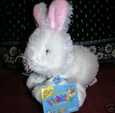 WEBKINZ RABBIT~LIL' KINZ Easter Bunny~Interactive Pet~Sealed Tags~Secret Code~New!