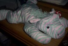 ZULU Ty Pillow Pal Zebra 1996 Soft & Cuddly for Baby