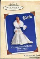 Hallmark Ornament 2003 Celebration Barbie #4 in Series