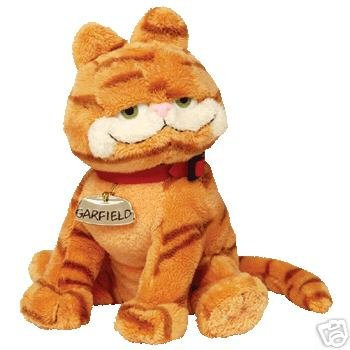 Original Ty GARFIELD Beanie Baby w/ Golden Name Tag- New
