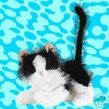 WEBKINZ BLACK & WHITE CAT~LARGE Interactive Pet Kitten~Sealed Tag~Secret Code~New