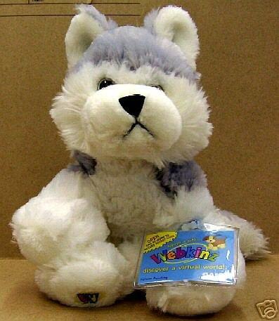 WEBKINZ~Siberian HUSKY Dog~Sealed Tag~Secret Code