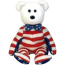 Ty WHITE LIBERTY Beanie Baby- Retired