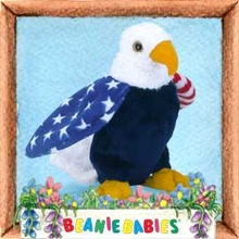 Ty SOAR The American Eagle Beanie Baby-Retired