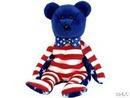 Ty BLUE LIBERTY Beanie Baby Bear