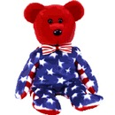 Ty RED LIBERTY Beanie Baby Bear