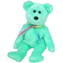 Ty LIME Green SHERBET Beanie Baby Bear