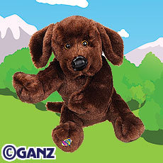 WEBKINZ~CHOCOLATE LAB Labrador Dog~Sealed Tag~Secret Code