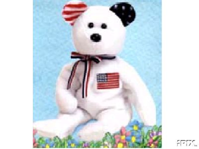 White America Beanie Baby w/ Reversed Ears-Retired