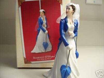 SCARLETT O'HARA Gone with the Wind PORCELAIN Hallmark Ornament 2003