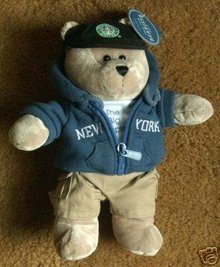 STARBUCKS NEW YORK Bearista 2007 Bear Plush