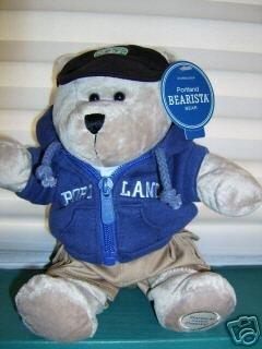 STARBUCKS PORTLAND Bearista 2007 Bear~Plush~Oregon