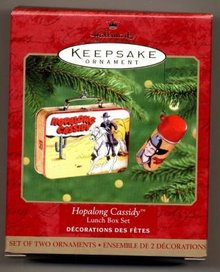 HOPALONG CASSIDY Lunch Box & Thermos Hallmark 2000 Lunchbox Ornaments