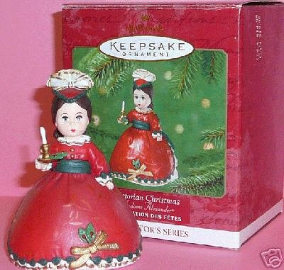 Madame Alexander~VICTORIAN CHRISTMAS Doll~2001 Hallmark Ornament 6th in Series