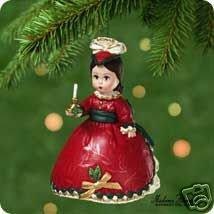 Madame Alexander~VICTORIAN CHRISTMAS Doll~2001 Hallmark Ornament 6th in Series