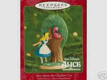 New! 2000 Hallmark~ALICE MEETS THE CHESHIRE CAT~ Disney Christmas Ornament~Alice in Wonderland