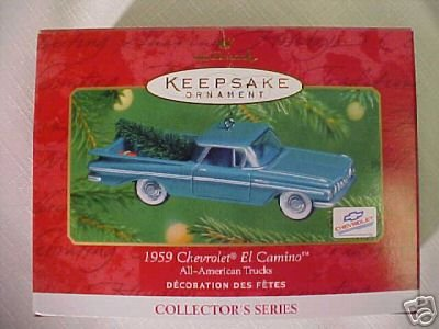 1959 CHEVROLET EL CAMINO~2001 Hallmark Ornament~ ALL- AMERICAN TRUCKS #7