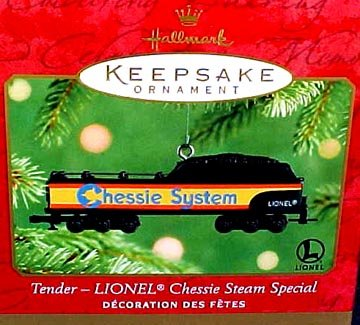 2001 TENDER- LIONEL CHESSIE STEAM SPECIAL~Hallmark TRAIN Ornament