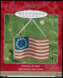Hallmark 2001 America For Me!~ Patriotic Flag ornament