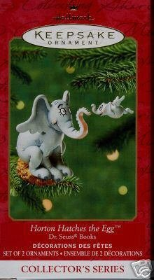 Hallmark 2001 HORTON HATCHES THE EGG~Dr Seuss Set of 2 Ornaments