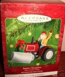 SANTA'S SNOWPLOW~HALLMARK 2001 Ornament~23rd in HERE COMES SANTA series