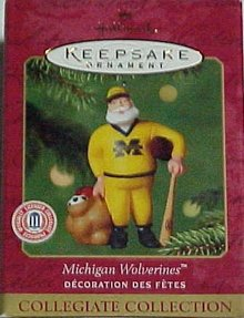 University of MICHIGAN WOLVERINES~Hallmark 2001 Ornament