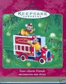 Four-Alarm Friends- Firefighter Mouse~Hallmark 2001 Ornament