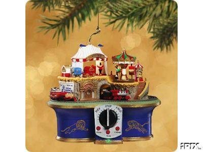 CIRCUS Mountain RAILROAD Magic Hallmark Ornament 2002~Music~Movement