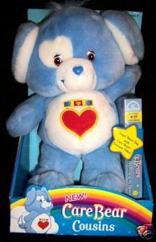 Care Bears Cousin Plush LOYAL HEART DOG w/VHS Video~NEW