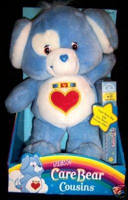 Care Bears Cousin Plush LOYAL HEART DOG w/VHS Video~NEW
