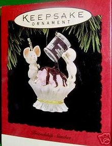 HERSHEY's Friendship Sundae Hallmark Ornament 1994 Mice