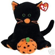 Ty Halloween SUPERSTITION Beanie Baby BLACK CAT