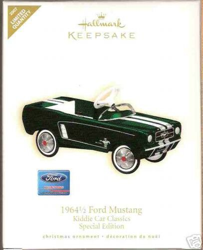 1964 1/2 FORD MUSTANG Hallmark 2007 Ornament~Special COLORWAY/REPAINT Ed