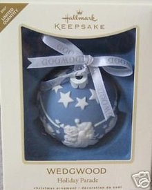 WEDGWOOD Porcelain Christmas Ornament Hallmark 2007 Limited Edit