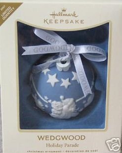 WEDGWOOD Porcelain Christmas Ornament Hallmark 2007 Limited Edit