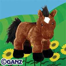 New WEBKINZ~BROWN ARABIAN HORSE~SEALED TAG With SECRET CODE
