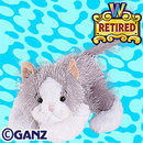 Webkinz GRAY & WHITE CAT Retired~Sealed Tag +Secret Code~GREY