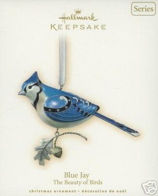 NEW Hallmark 2007 BLUE JAY~3rd - Beauty of Birds Christmas Ornament Series