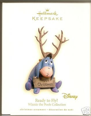 Hallmark 2007~EEYORE Ornament~READY TO FLY? Winnie the Pooh~Disney