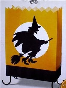 HALLOWEEN PARTY LUMINARIES~Hallmark Hauntington Cackling Witch~Luminary+Batteries