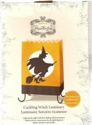 HALLOWEEN PARTY LUMINARIES~Hallmark Hauntington Cackling Witch~Luminary+Batteries